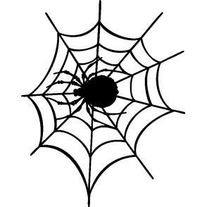Samolepka Pavouk 016 levá s pavučinou - AUTOSAMOLEPKY.cz - samolepky na auto - tuning samolepky